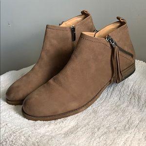 Franco Sarto Kaime Brown Leather tassel bootie 10